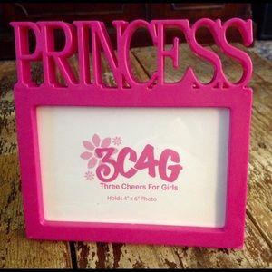 PINK PRINCESS PHOTO FRAME 3C4G PLASTIC